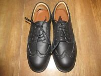 Work shoes black Steel toe cap brogue style uk8 new not boxed anti slip and oil
