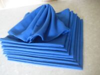 8 LARGE ROYAL BLUE SERVIETTES / NAPKINS