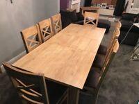 Oak Furniture Land Dining Suite