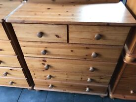 Collection of pine furniture