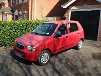 2004 Red Suzuki Alto 1.1Ltr GL 5dr / 6m MOT / Full Service History / 70,373 miles / £30 Road tax