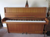 Steinmann (East Germany) upright piano.One owner (for 35 years). Excellent condition. Mahogany