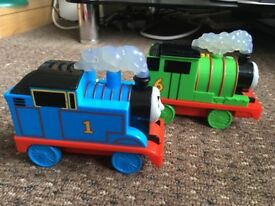 Thomas and Percy trains