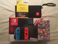 Nintendo Switch Console *BRAND NEW* Mario Kart *SEALED* + Carry Case & Screen Protector