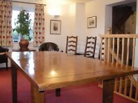 Beautiful 18th Century reproduction dining table, made from reclaimed wood, £100