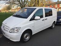 Mercedes Vito White Panel Van with extra 3 seats at the back