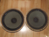 2 x Genuine Marshall 15 inch Vintage 50W 8 Ohm Chassis Guitar / Organ / Bass Speakers