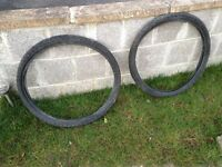"Two as new 26X2.0"" mountain Bike tyres"