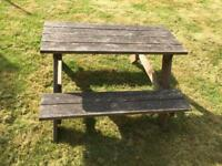 Kid's Picnic Table / Bench - ideal for summer