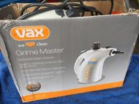 VAX GRIME MASTER HAND HELD STEAMER USED ONCE