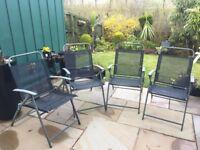 4 X folding garden chairs