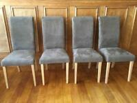 Immaculate - 4 mink dining chairs