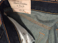 NWOT Abercrombie & Fitch Skinny Men`s Jeans Pant Size W34 L32