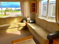 😀😀DG & heated static caravan for sale at Sandy Bay Hol Park😀😀 Brand NEW 5* facilities 12 months