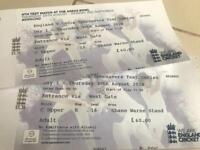 Two tickets to day 1 of the 4th test match at The Ageas Bowl