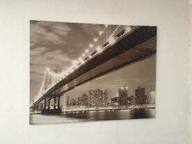 Black and white cityscape canvas - big!