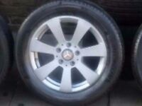 Mercedes C Class alloys £200 3 alloys have good tyres & 1 is without.