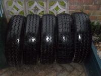 full set of 5 tyres.