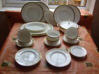 WEDGEWOOD BONE CHINA DINNER SERVICE. MARINA R4426.