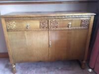Vintage solid wooden sideboard