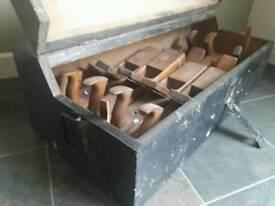 Vintage solid pine tools box