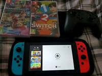 Nintendo switch - 2 Games - Pro Controller