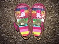 Peppa Pig Jelly shoes size 3