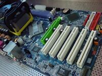 Gigabyte GA-8I848P-G ATX motherboard with Intel Pentium 4 HT 3GHz socket 478 CPU and Cooler