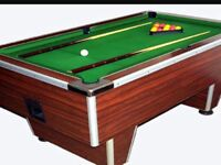 Pub type slate bed pool table All accessories included