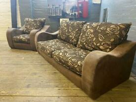 SUEDE SOFA SET IN EXCELLENT CONDITION 3+1 seater