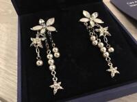 ** NEW ** Beautiful Swarovski Confetti Pierced Earrings - RRP £85.00