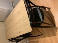 Table & two chairs: Argos Home Leon Oak Effect