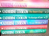 Six Catherine Cookson Hardback books,first class condition.