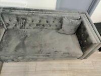 DESIGNER FURNITURE-Florence sofa-plush velvet left/right hand corner sofa-in grey color⭐️