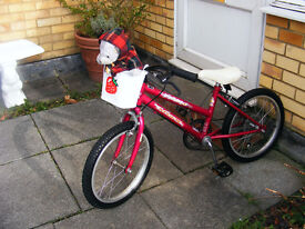 "GIRLS 18"" WHEEL BIKE WITH GEARS IN GREAT WORKING ORDER AGE 5+"