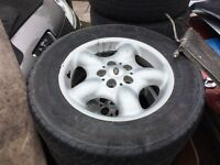 Landrover freelander set of 4 alloy wheels and tyres - can post