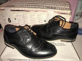 Riverisland boys black brogue shoes size 13