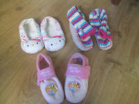 VARIOUS LOVELY GIRLS SLIPPERS - FROM SIZE 12 - SIZE 3