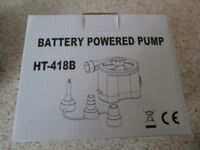 Battery powered air pump Brand new in box - never been used.