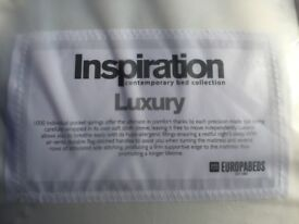 Brand New. Europa Luxury 4FT6 Double Pocket Sprung Mattress. Unopened/Unused. Delivery Option