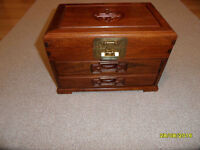 Jewelry Box - Two Draws and Locking Top Compartment