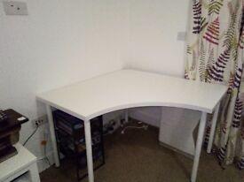 Ikea white corner desk. Bought last month.