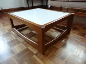 Solid Wood Coffee Table with White Table Top