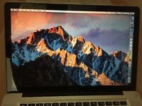 MacBook Pro Mid 2012, QuadCore i7, 2.6, 15inch, 8Gb, CS5, OS Sierra + 7 Pro 64 bit
