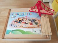 Boxed Large Wooden Train Set (with extras)