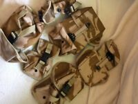Six Army combat desert pouches