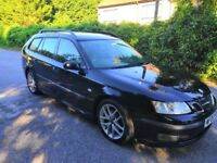 SAAB 9-3 DIESEL. 2006. MANUAL. ESTATE. TOWBAR. NEW MOT. PART LEATHER. AIR CON. 183000