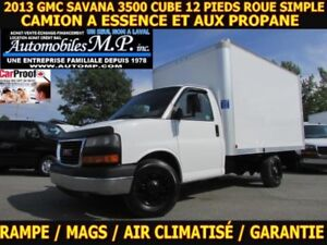 2013 GMC Savana 3500 A ESSENCE ET PROPANE  ROUE SIMPLE