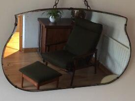 Vintage Retro Frameless Mirror