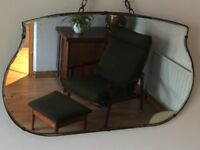 Vintage Retro Frameless Mirror